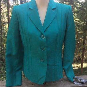 Le Suit retro turquoise blazer with tags